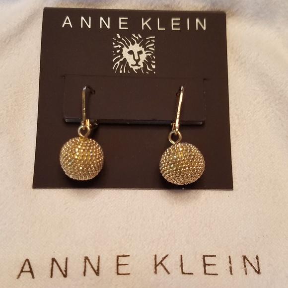 46393b0585e8a Anne Klein Gold Drop Earrings NWT